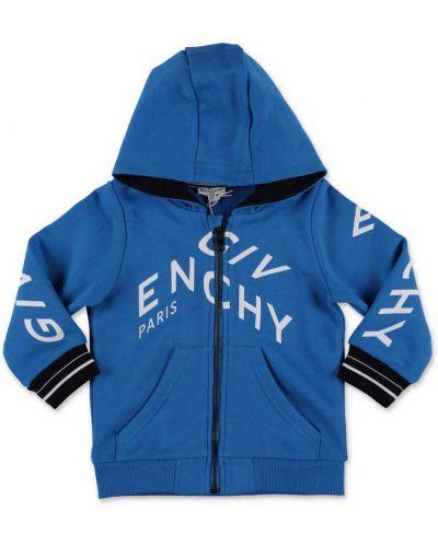 Niebieska bluza z kapturem bawełniana Givenchy