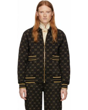 Длинная куртка черная с карманами Gucci