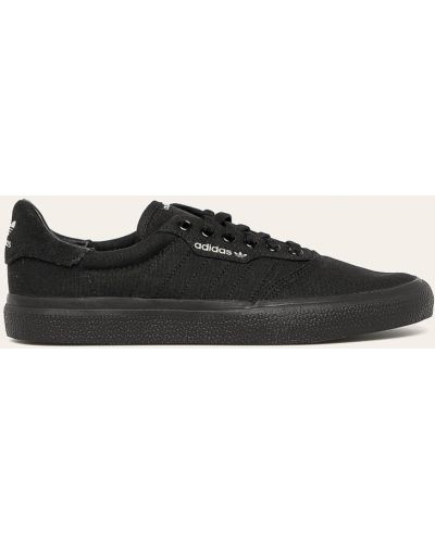 Czarne trampki skorzane sznurowane Adidas Originals