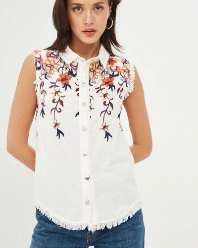 Блузка без рукавов белая весенний Gepur