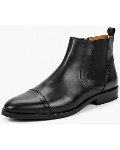 Кожаные ботинки португальские высокие Tommy Hilfiger