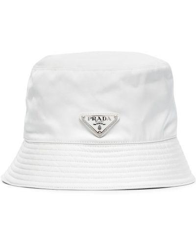 Biała bucket hat Prada