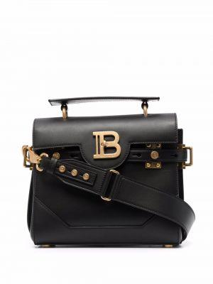 Кожаная сумка - черная Balmain