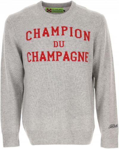 Czerwony z kaszmiru sweter Mc2 Saint Barthelemy
