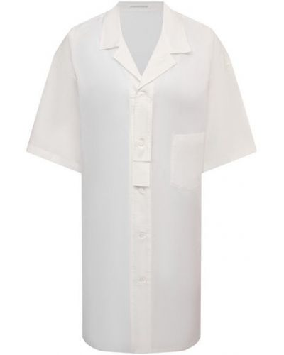 Хлопковая рубашка - белая Yohji Yamamoto