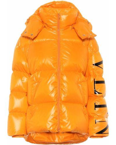 Пуховая оранжевая городская зимняя куртка Valentino