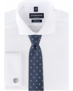 Классическая рубашка с манжетами под запонки с длинным рукавом Henderson