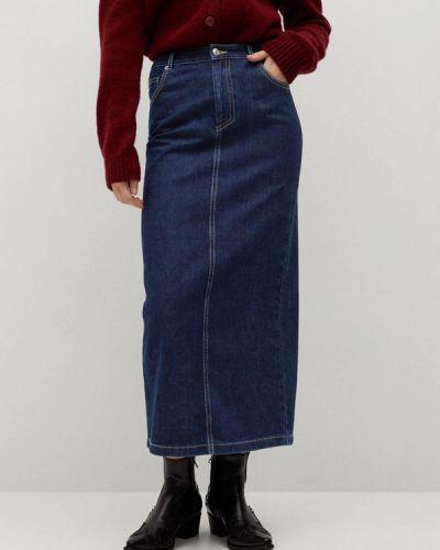 Синяя джинсовая юбка Mango