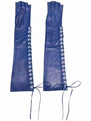 Rękawiczki bez palców - niebieskie Manokhi
