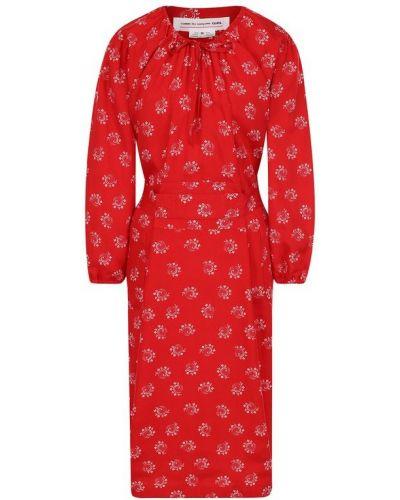 Платье миди с поясом из вискозы Comme Des Garçons Girl