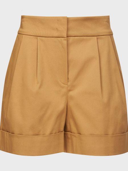 Хлопковые шорты - бежевые Alberta Ferretti
