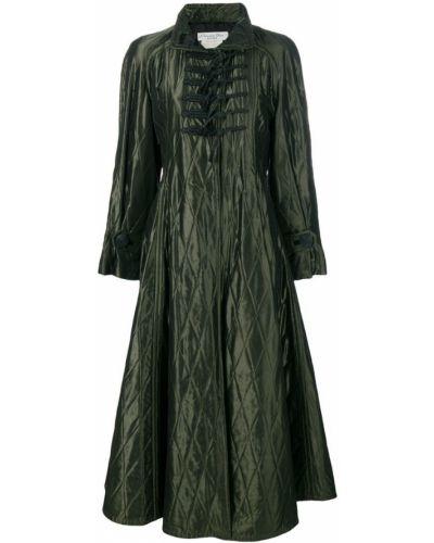 Расклешенное пальто классическое с капюшоном с воротником Christian Dior Pre-owned
