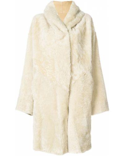 Пальто из овчины - бежевое Sylvie Schimmel