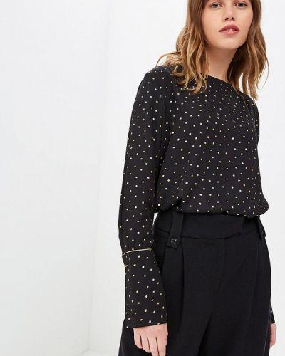 Черная блузка с длинным рукавом Sweewe
