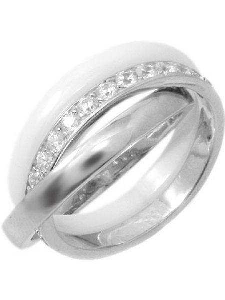 Кольцо из серебра белый Evora