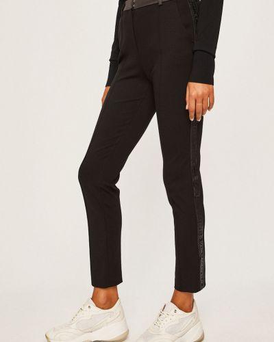 Черные брюки с поясом узкого кроя Karl Lagerfeld