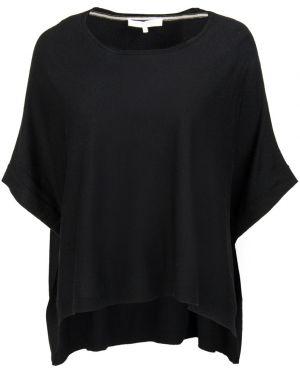 Шерстяной черный свитер летучая мышь с круглым вырезом Gerard Darel