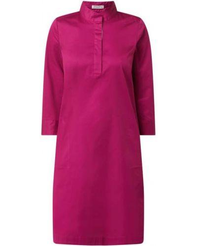 Różowa sukienka mini rozkloszowana bawełniana Christian Berg Women
