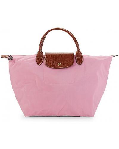 Кожаный топ - розовый Longchamp