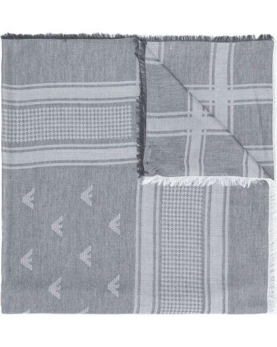 Серый шарф из вискозы Emporio Armani