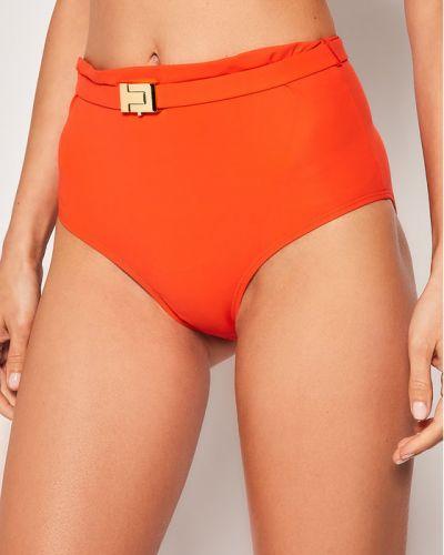 Pomarańczowy bikini z paskiem Tory Burch