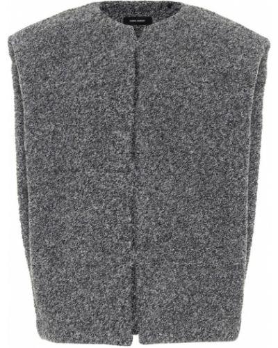 Шерстяная серая куртка Isabel Marant