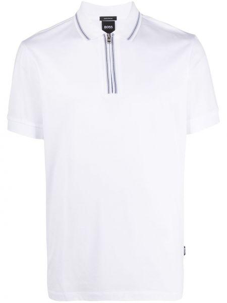 Koszula krótkie z krótkim rękawem klasyczna w paski Boss