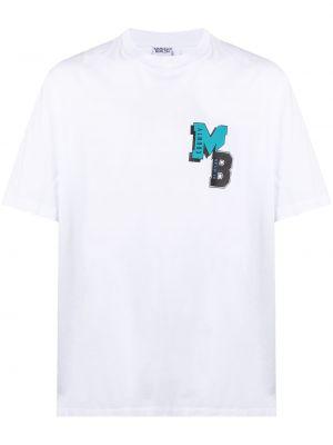 Biały t-shirt bawełniany z printem Marcelo Burlon County Of Milan