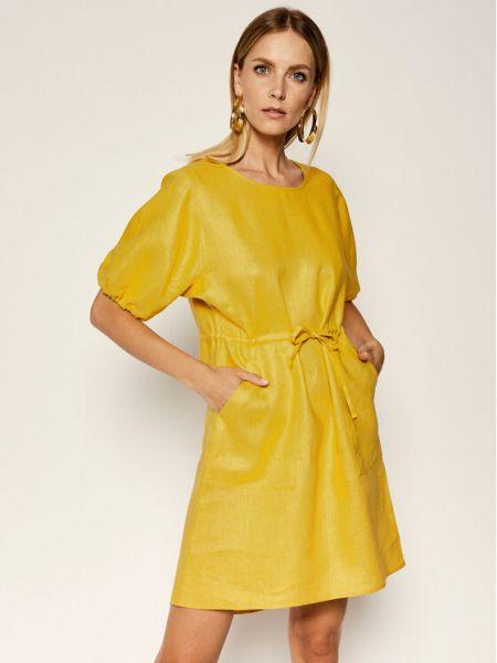 Sukienka casual - żółta Max&co.