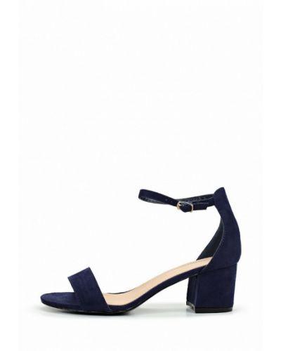 Босоножки на каблуке синий Coco Perla