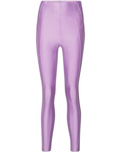 Деловые фиолетовые леггинсы Nike