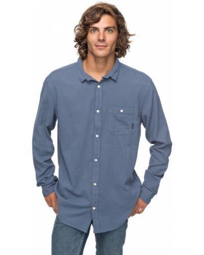 Синяя рубашка винтажная Quiksilver