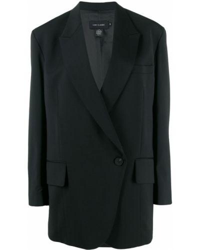 Черная длинная куртка Low Classic