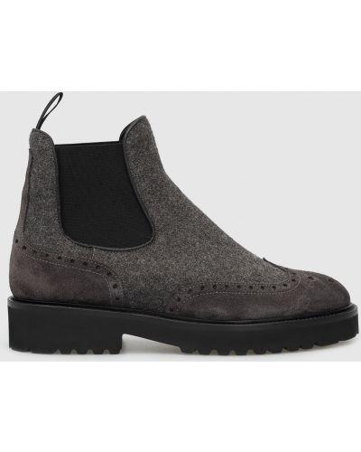 Ботинки челси с мехом - серые Doucal's