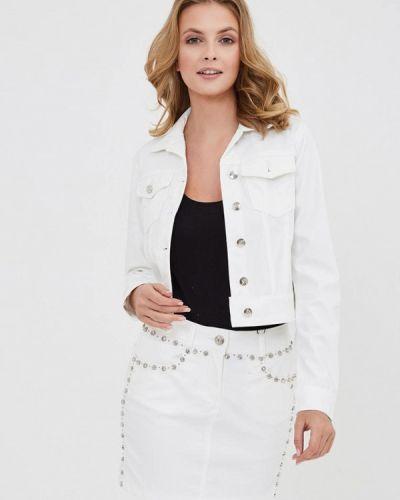 Джинсовая куртка весенняя белая D'she