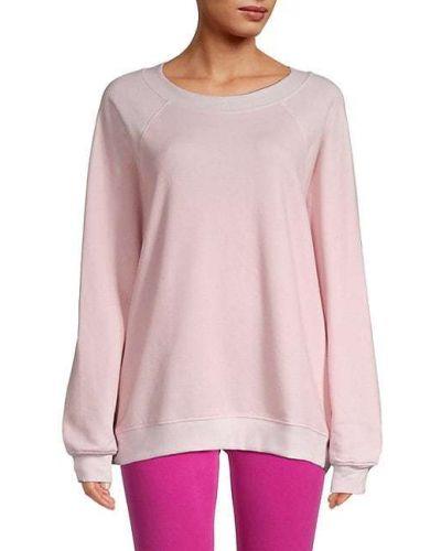 Хлопковый розовый свитшот винтажный Wildfox