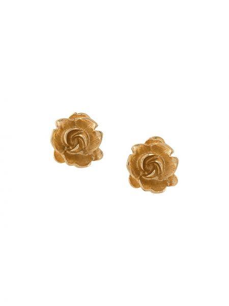 Золотистые желтые золотые серьги Monet Pre-owned