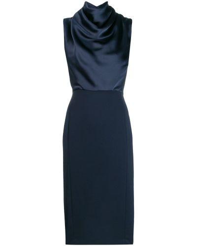 Платье с драпировкой приталенное Erika Cavallini