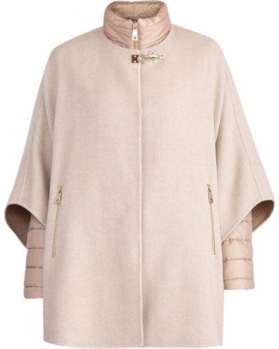 Пальто бежевое шерстяное Fay