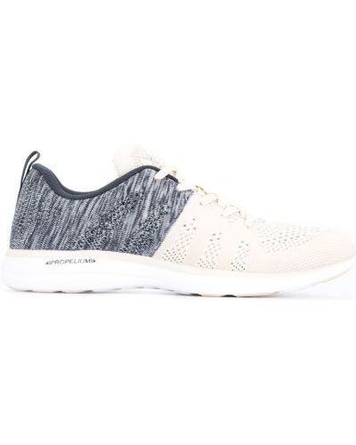 Кроссовки на шнуровке бежевые Apl