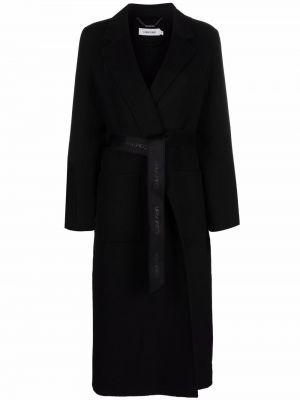 Черное шерстяное пальто Calvin Klein