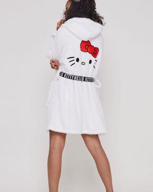 Белый халат с капюшоном Undiz
