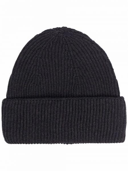 Шерстяная шапка бини - серая Nuur