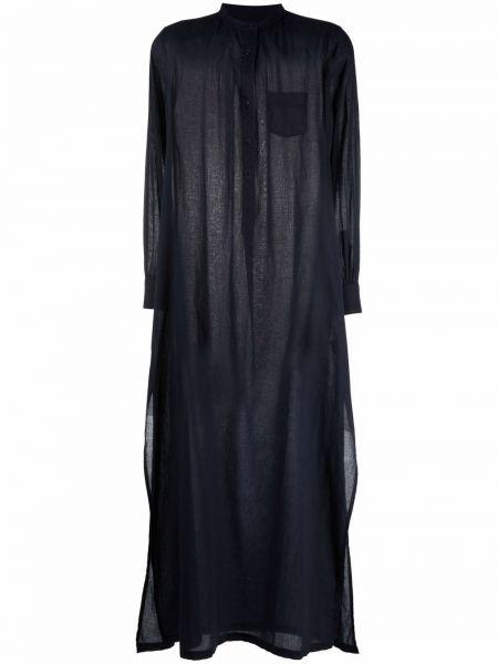 Синее платье макси длинное Nili Lotan