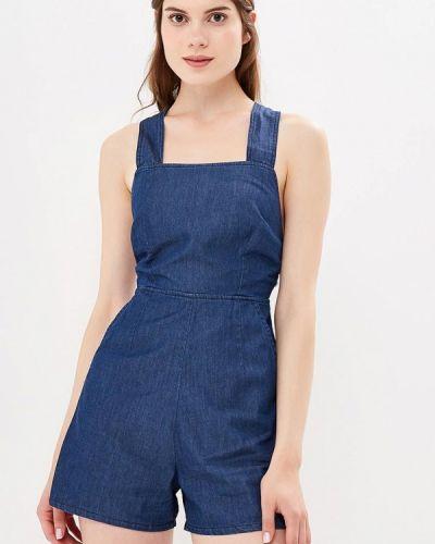 Синий комбинезон с шортами Warehouse