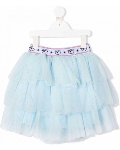 Biała spódnica tiulowa Chiara Ferragni Kids