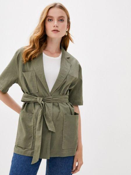 Зеленая рубашка с короткими рукавами B.style