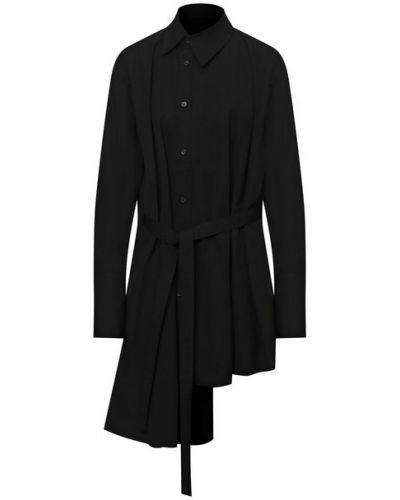Хлопковая рубашка - черная Yohji Yamamoto