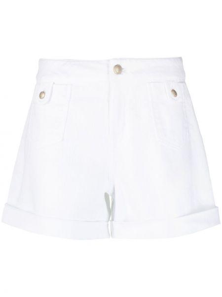 Хлопковые белые джинсовые шорты с карманами Jacob Cohen