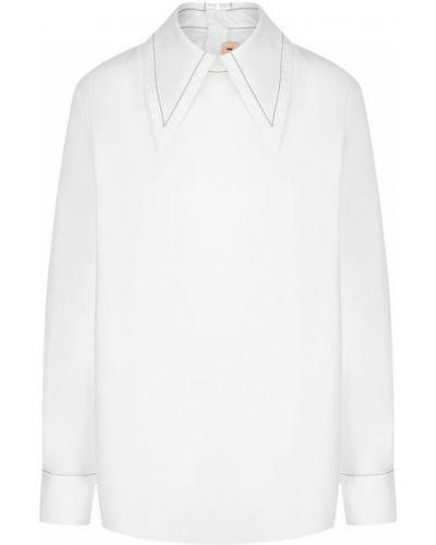 Блузка хлопковая с воротником Marni